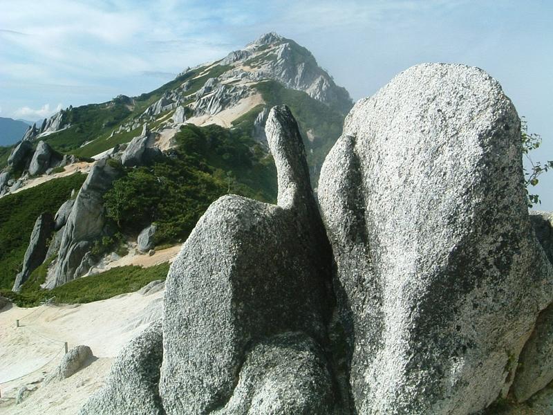 奇妙な形の岩