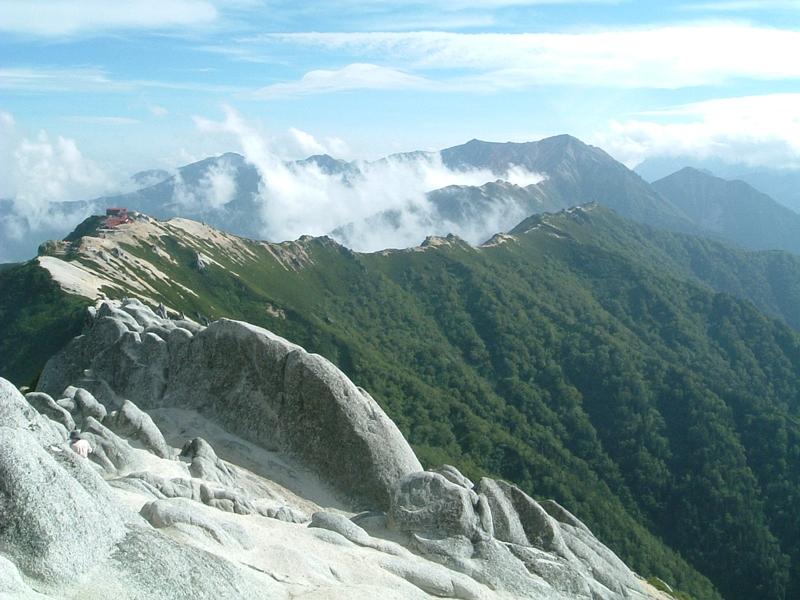 山頂から表銀座縦走ルート