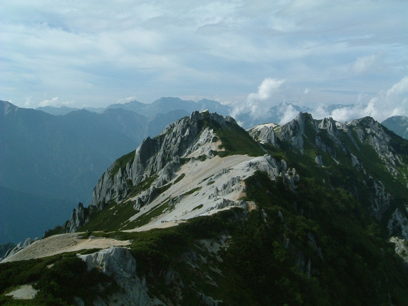 燕岳から北方面