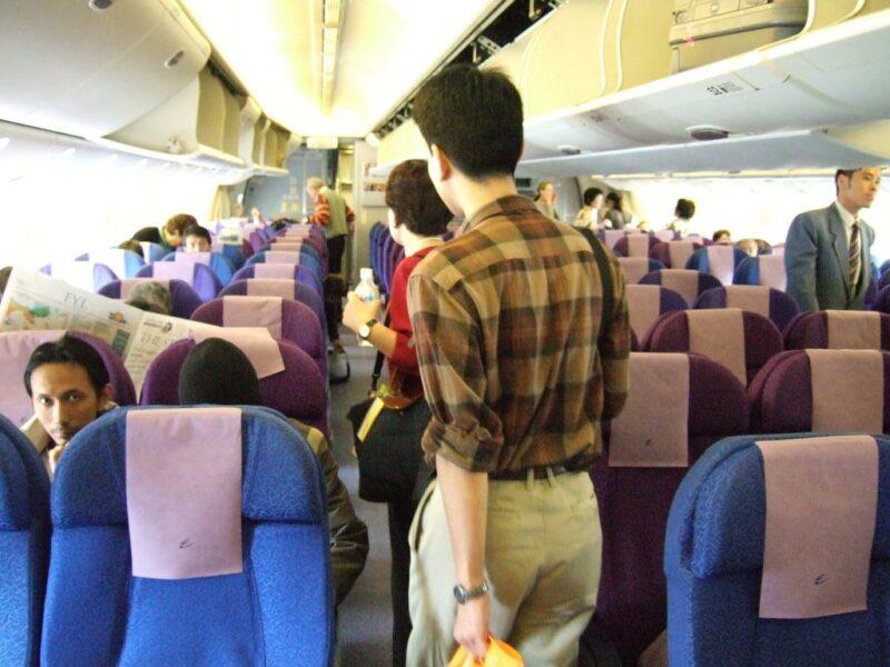 シンガポール航空機内