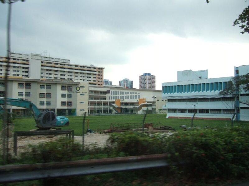緑。団地。学校。