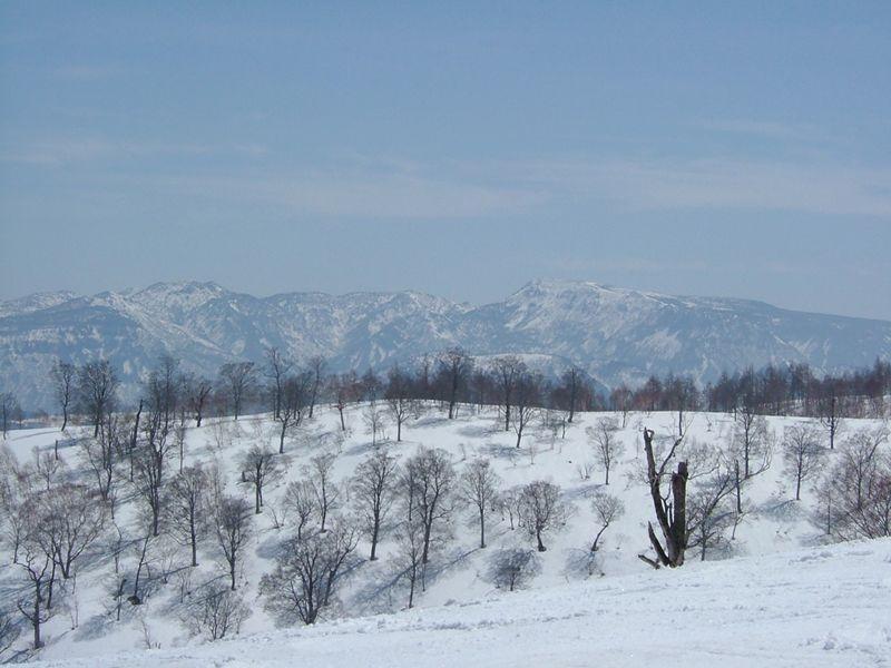 青空と、雪と2