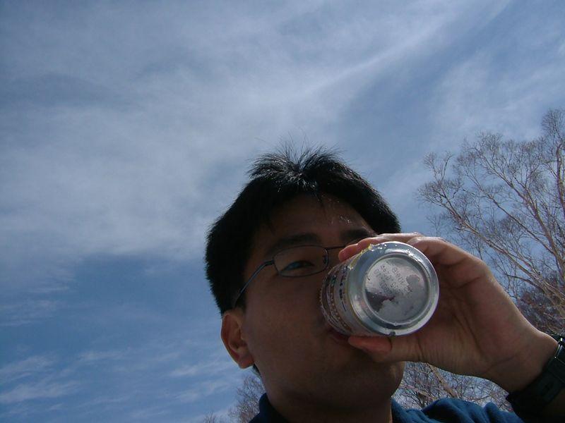 ビールを飲みながら