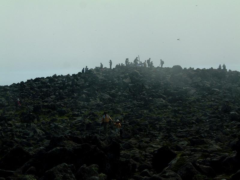 山頂の人たち