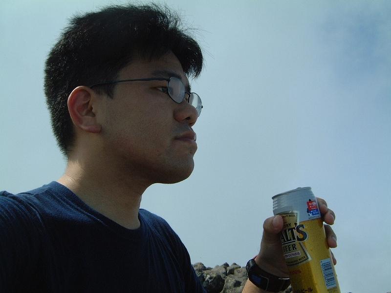 絶景を肴にビールを飲む