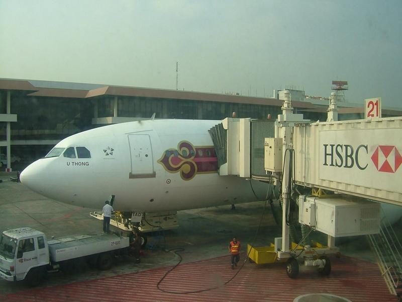 バンコク国際空港到着