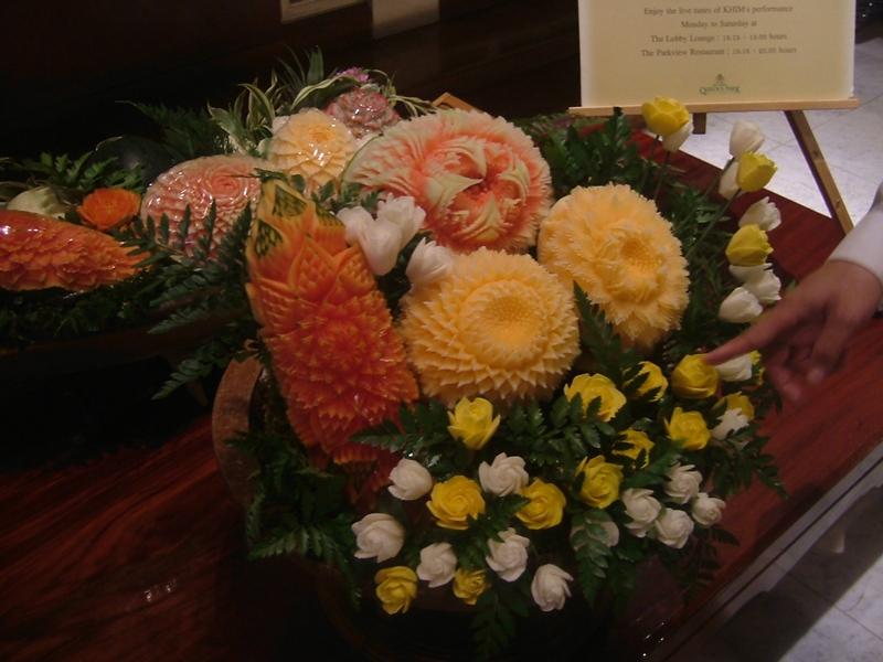 お花がお出迎え
