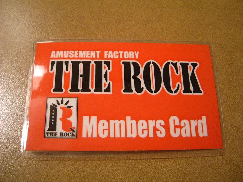 THE ROCKの会員証