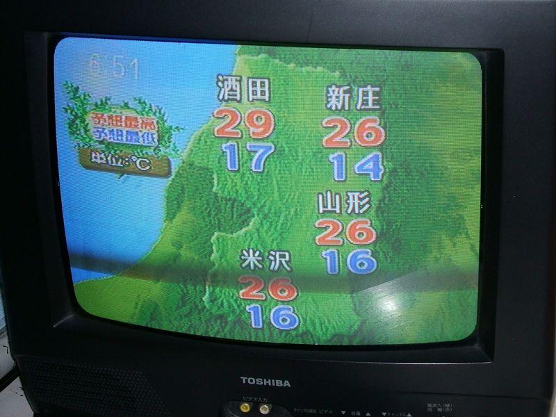 テレビの天気予報