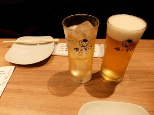 生ビールと自家製ジンジャーエール