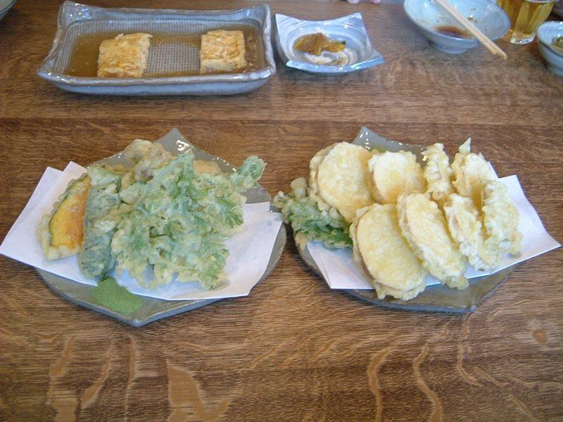 野菜天ぷらとじゃがいも天ぷら