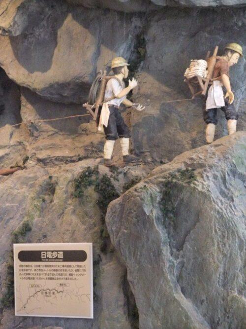 黒部川開拓中のジオラマ
