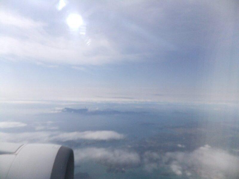 飛行機の上