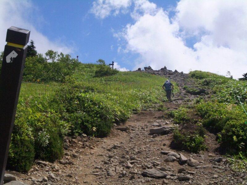 山頂近くの道