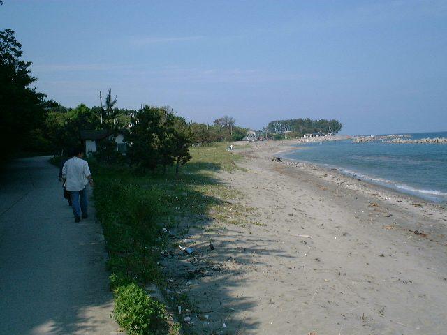 内浦地区の砂浜