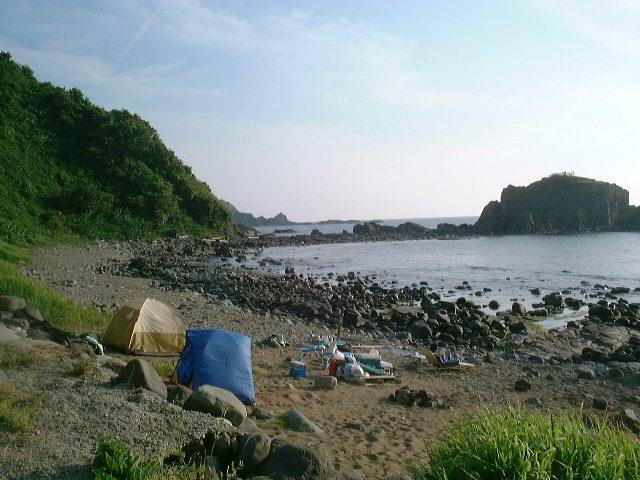キャンプ場といっても浜辺
