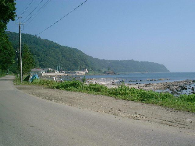 砂浜を眺める