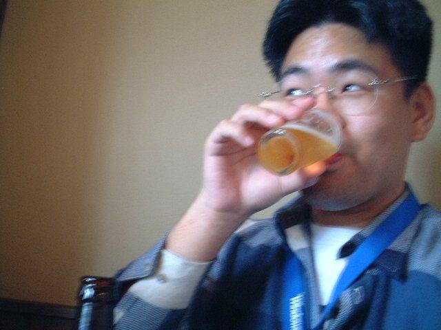 二杯目はビール