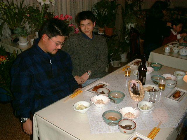 ペンションでの夕食