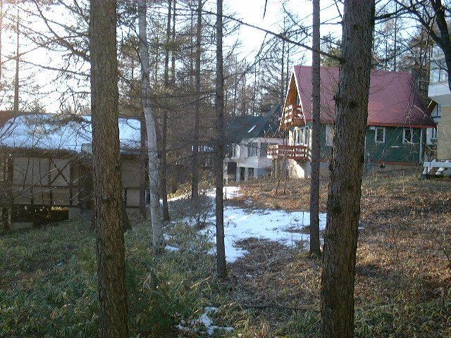 別荘から周りを見渡す