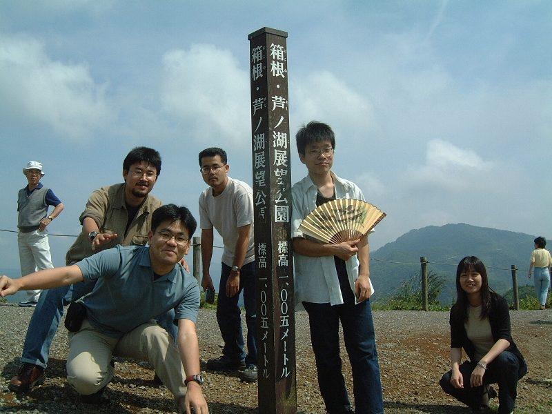 芦ノ湖を見下ろす位置