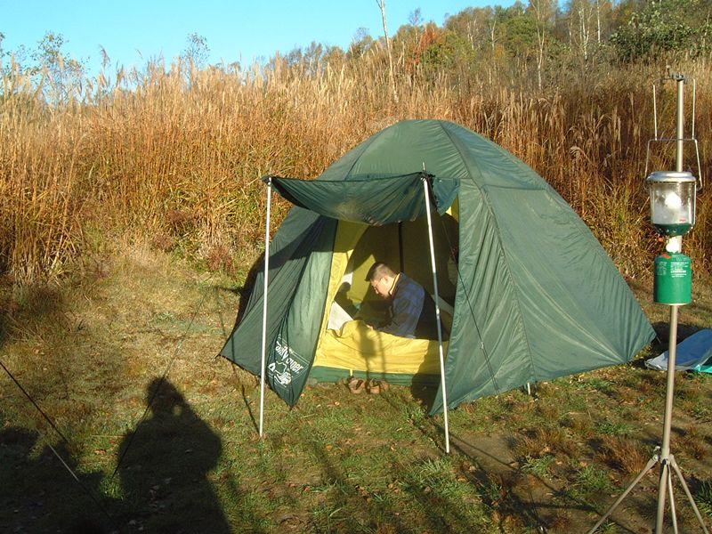 テントの外に出てみる