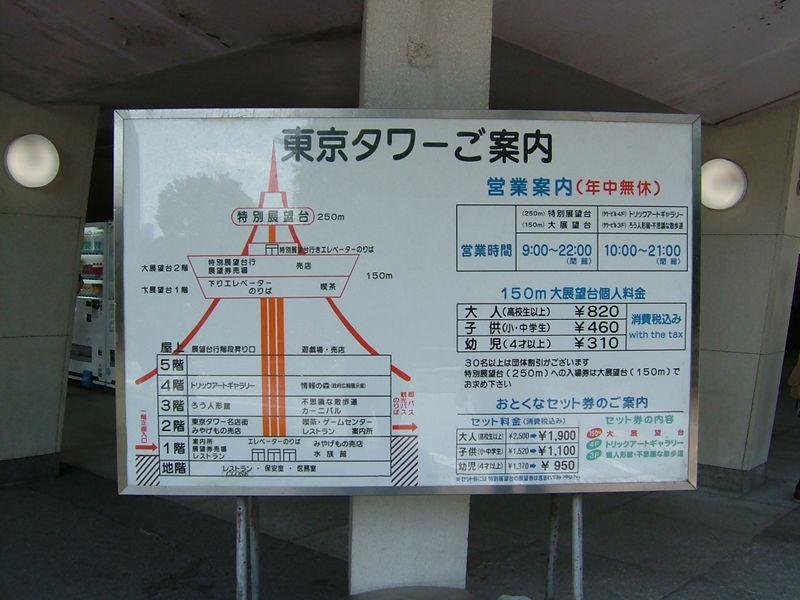 東京タワーご案内