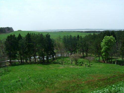 展望台から十三湖方面