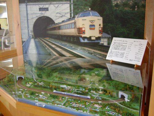 鉄道模型とジオラマが展示