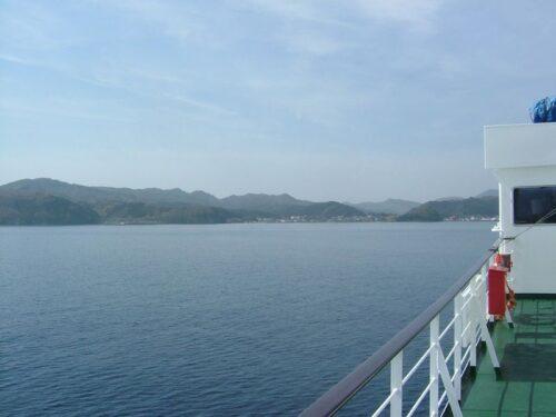 遠ざかっていく津軽半島