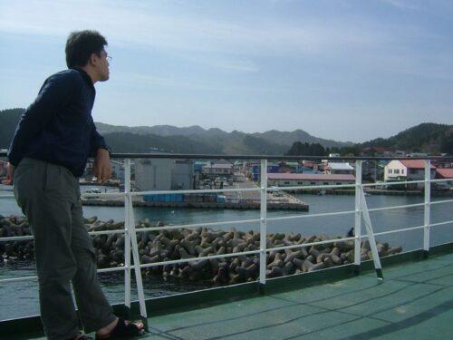 脇野沢に船が入港