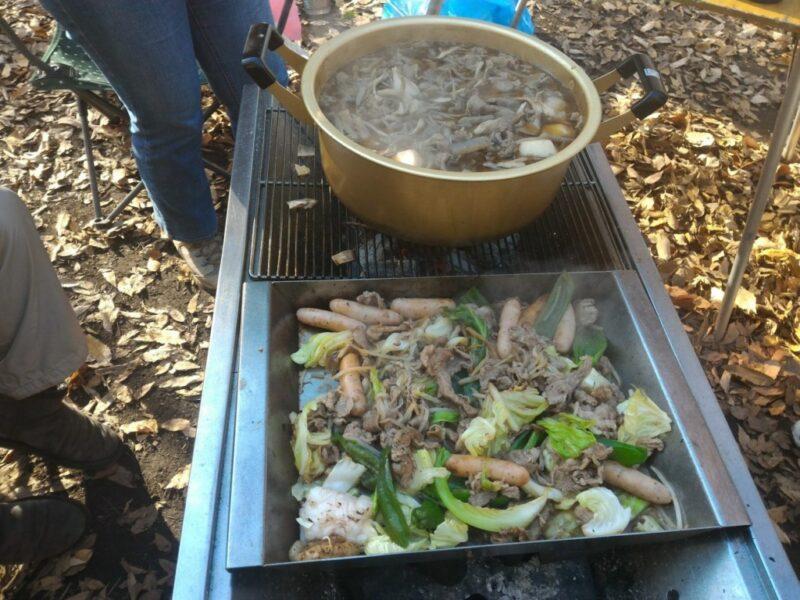 芋煮とジンギスカン