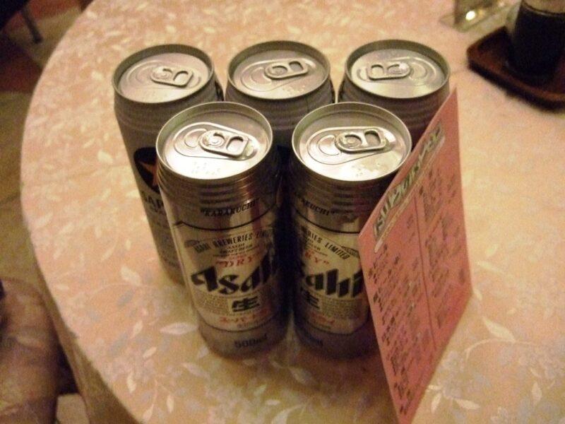 缶ビールを買ってきた