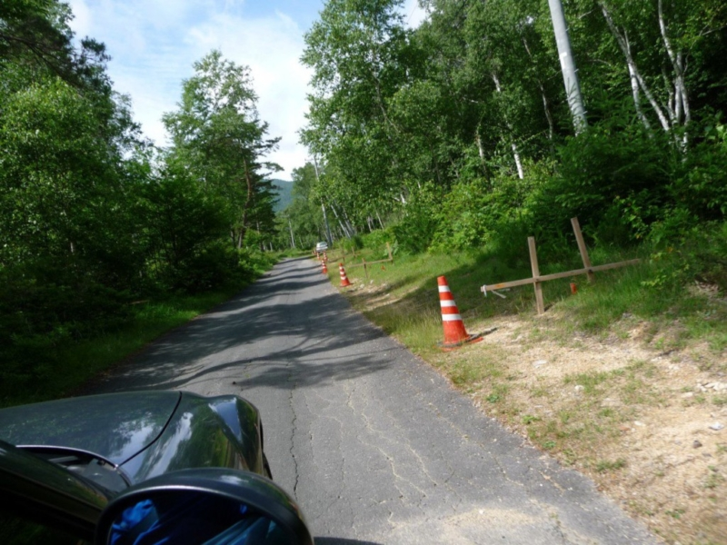 道路の拡幅工事