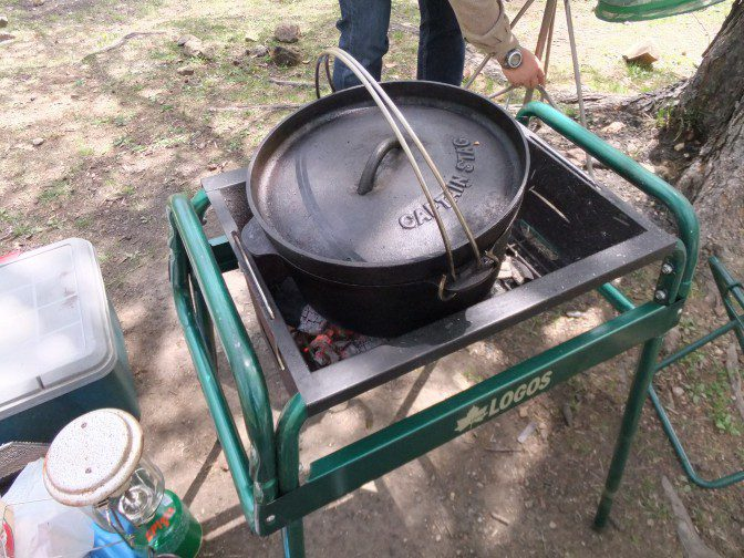 ダッチオーブンにふた