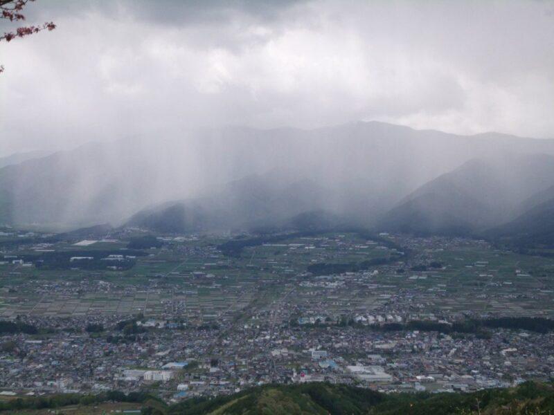 雲が発生してきた
