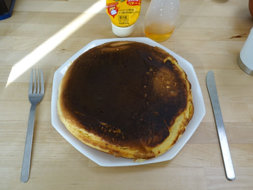 黒いホットケーキ