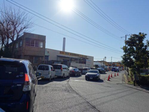 松戸南部市場に通じる道