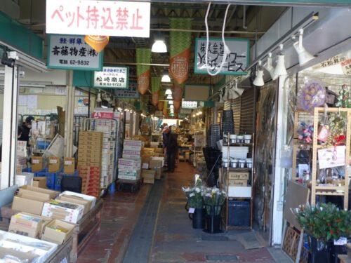 市場の路地
