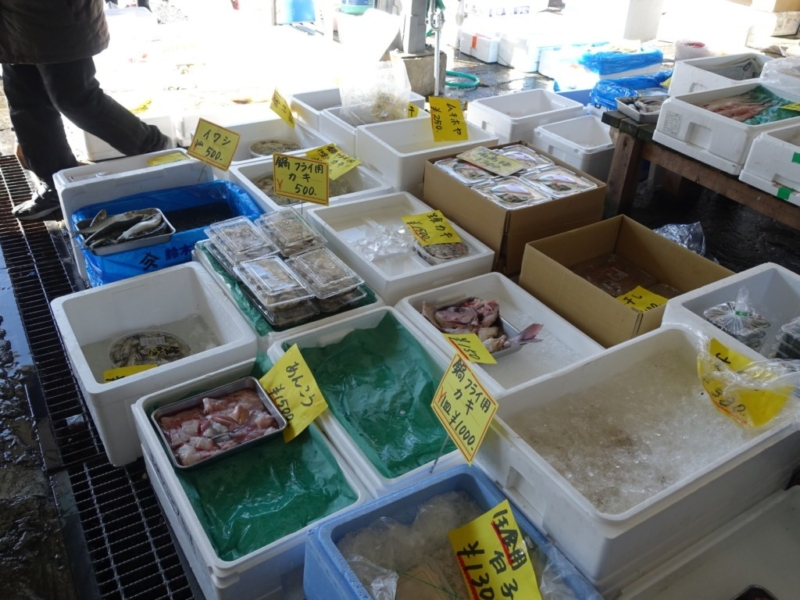 魚が売られている