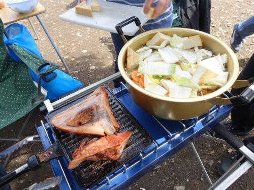焼きと煮を同時並行