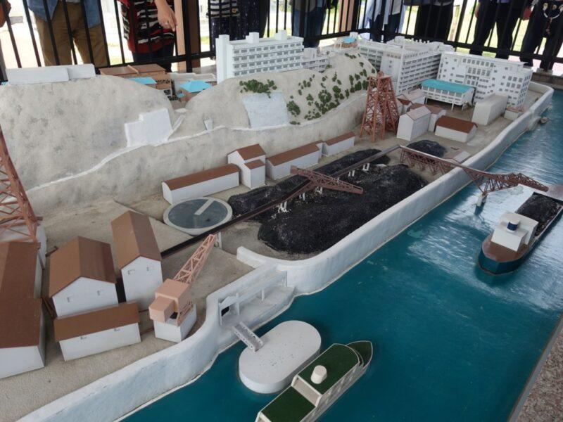 軍艦島ミニチュア模型2