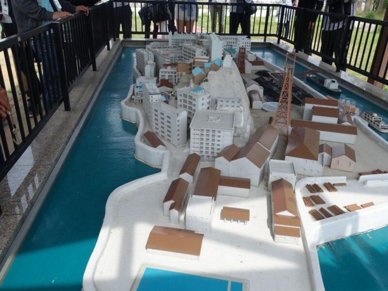 軍艦島ミニチュア模型4