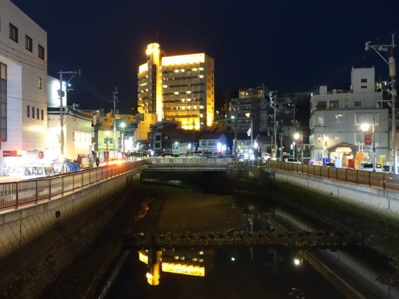 日が沈む長崎