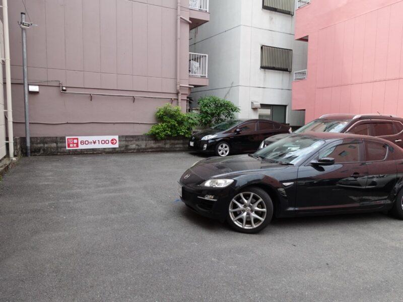 浦上天主堂近くの駐車場