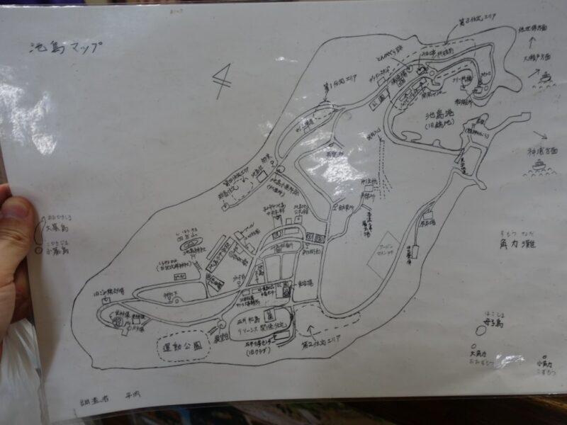 池島中央会館地図