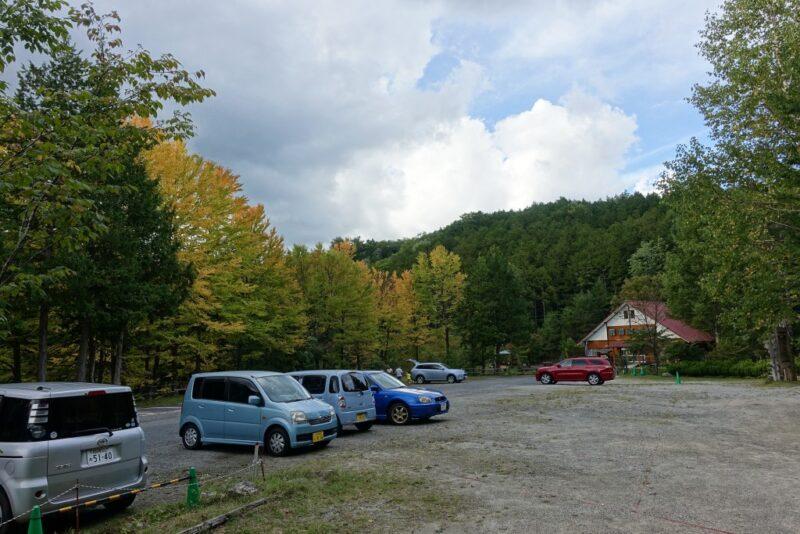 自然休養林駐車場
