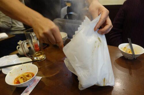 麻婆豆腐到着