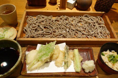 野菜の天ぷらそば切り