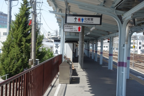 長野駅7番線ホーム